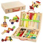 Caja herramientas madera niños